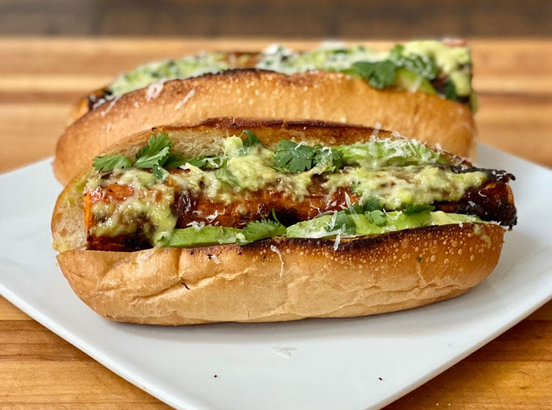 Grilled Carrotdog cilantro avocado