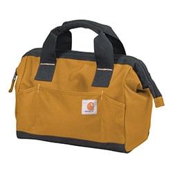 carhartt heavy duty poly fabric tool bag brown
