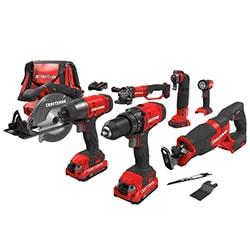 craftsman v20 cordless power tool kits combos