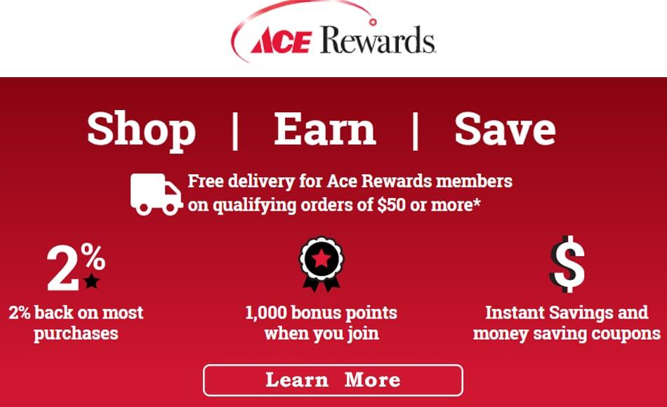 Ace Rewards banner